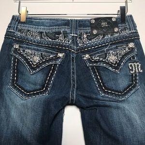 Miss Me Embellished Flap Pocket Easy Boot Jeans